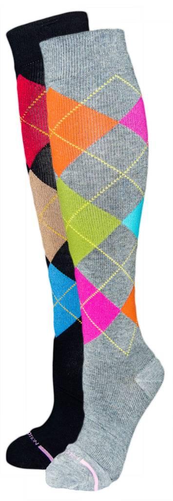Davco Dr Motion Women's Compression Argyle Socks - Dr. Motion