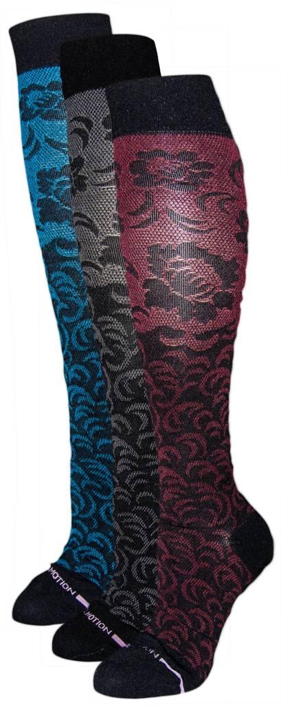Dr. Motion Women's Dr. Motion Compression Socks: Damask Floral Pattern