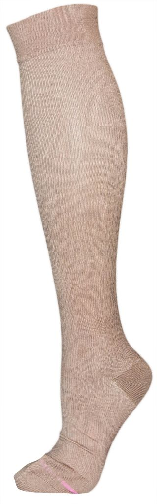 Dr. Motion Dr Motion Women's Compression Micro Nylon Socks: Solid Color