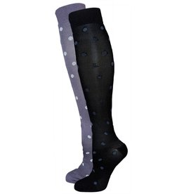 Women's Polka Dot Compression Lite Support Socks