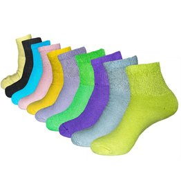 Dr. Allay Women's Diabetic Quarter Top Socks
