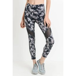 Monochrome Camo Highwaist Mesh