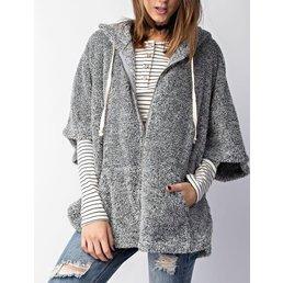 Hoodie Poncho Style Jacket