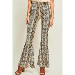 Reptile Flared Pants