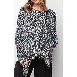 Leopard Tie Top