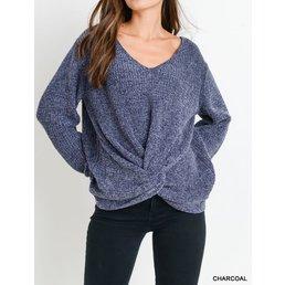 Front Twist Sweater