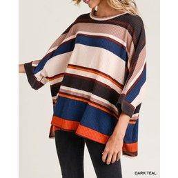 Stripe Oversize Top