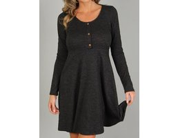 Long Sleeve Dress W/ Button Detail