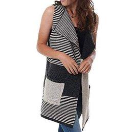 Color Block Oversize Sweater Vest