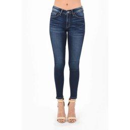 Midrise Dark Skinny Jeans