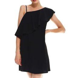 Flounce One Shoulder  Dress