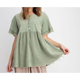 Washed Babydoll Top