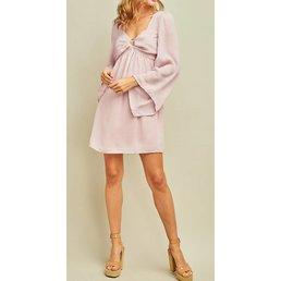 Crinkled Babydoll Dress