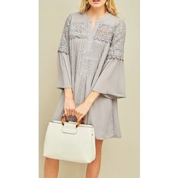 Button Up Shift Dress
