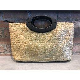 Seagrass Handbag w/Wood Handle