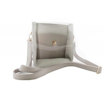 Clear Front Cross Body Bag