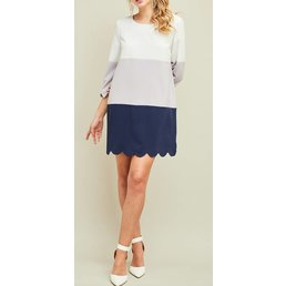 Scallop Hem Dress