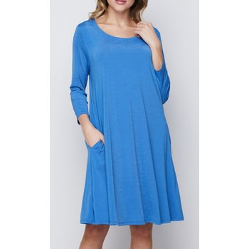 Solid Swing Dress W/ Pockets