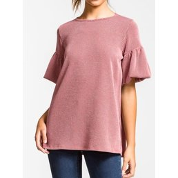 Short Balloon Sleeve Top