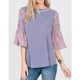 Smocked Sleeve Top