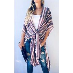 Long Kimono W/ Fringe
