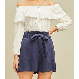 Highwaist Paperbag Shorts