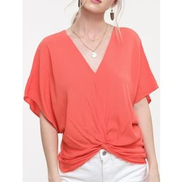 Twisted Front Blouse