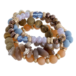 Multi Strand Stretch w/Stone and Beads