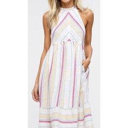 Halter Striped Dress