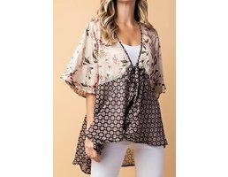 Fabric Mix Kimono