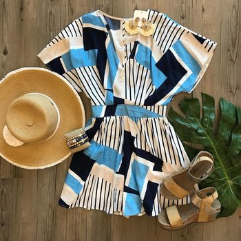 Abstract Print Romper