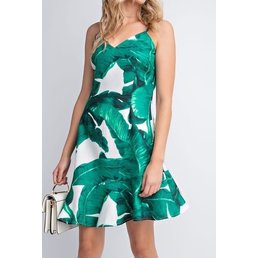 Leaf Print Cami Dress
