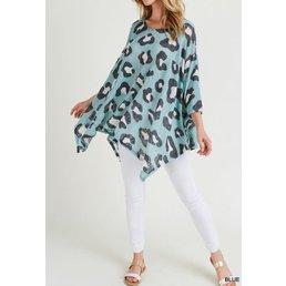 Leopard Print Poncho Top