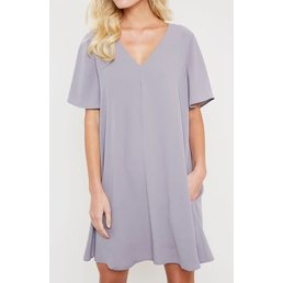 V Neck Tunic Dress