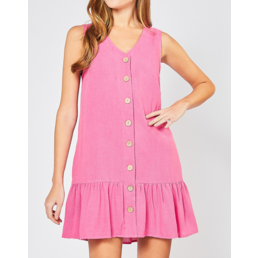 Sleeveless Button Up Dress