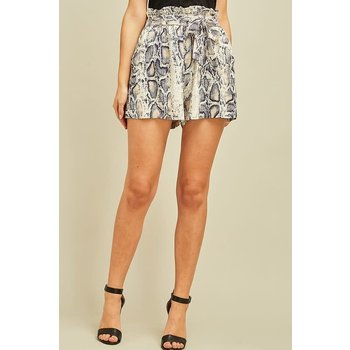 Reptile Print Shorts