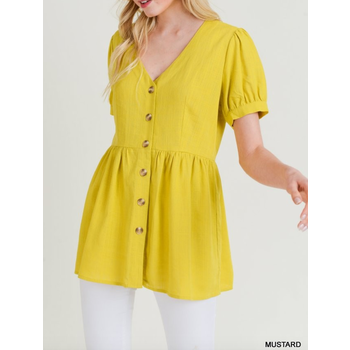 Button Up Babydoll Top