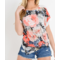Floral Waffle Knit Top