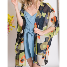 Floral Sheer Kimono