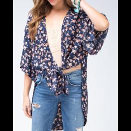 Floral Slit Kimono