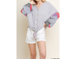 Knit Button Up Top