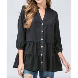 Tiered Button Up Top