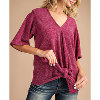 Front Knot Knit Top
