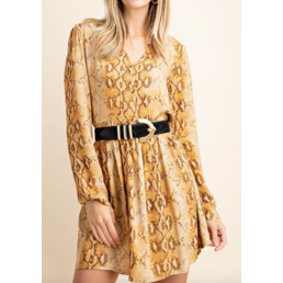 Reptile Print Dress