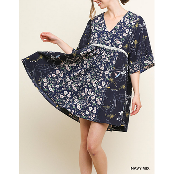Floral Bell Sleeve Dress
