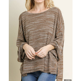 3/4 Rolled Sleeve Top