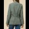 Draped Drawstring Jacket