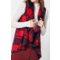 Buffalo Plaid Shawl Collar Vest