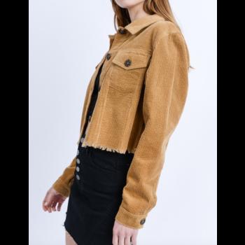 Frayed Hem Jacket