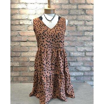 Cheetah Tiered Dress